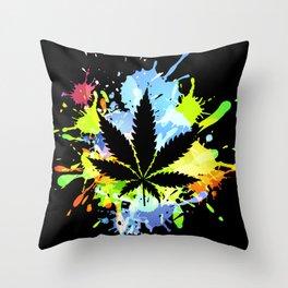 marijuana  canabis Throw Pillow