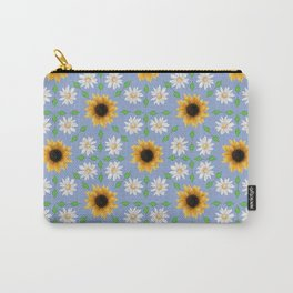 Flower Mandala - Serenity Blue Carry-All Pouch