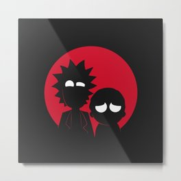 Adventures of Morty and Rick Metal Print