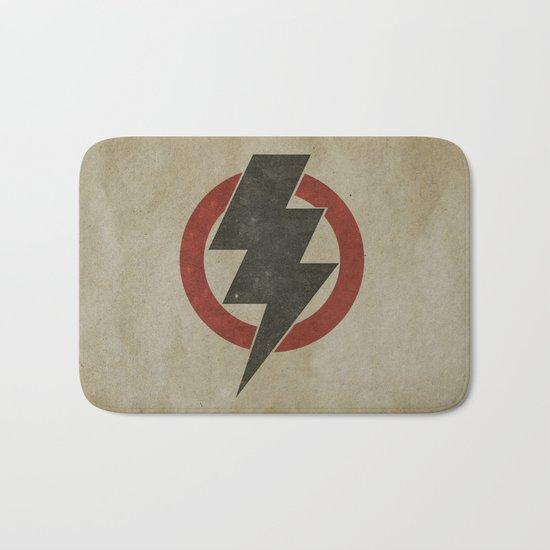lightning strike zone Bath Mat