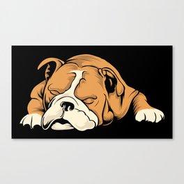 English Bulldog | Dog Lover Canvas Print