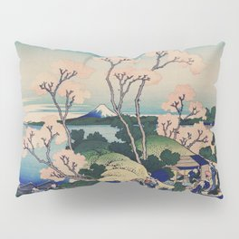 Sakura blossom with Mount Fuji in the background, Japanese fine art Pillow Sham