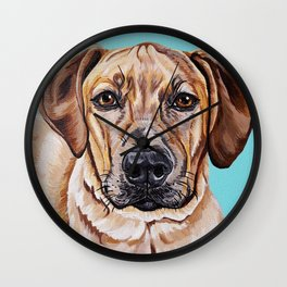 Kovu the Dog's pet portrait Wall Clock