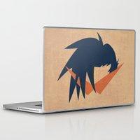 gurren lagann Laptop & iPad Skins featuring Minimalist Kamina by 5eth