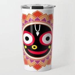 Jahannatha Mandala, Hare Krishna, The Lord of the Universe, Big Smile Travel Mug