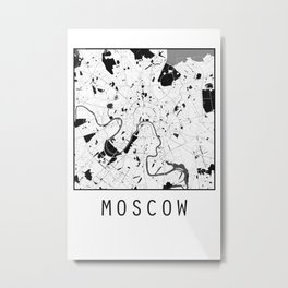 Moscow, Russia, city map Metal Print
