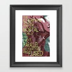 Mortal/Eternal Framed Art Print