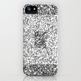 Black and white marble texture 6 iPhone Case