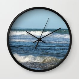 Waves and distant headlands in Queensland, Australia Wall Clock