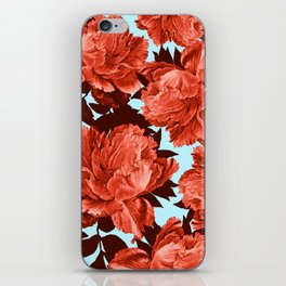 the big vermilion rose iPhone Skin