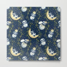 Sh, Sh, Panda Is Sleeping Metal Print