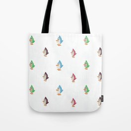 Colorful Birds Pattern Tote Bag