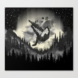 MTB Aqua Canvas Print