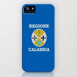 Flag of calabria iPhone Case