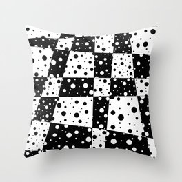 Holes In Black And White Throw Pillow