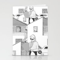 the neighbourhood Stationery Cards featuring Into the neighbourhood by Fiona Kate