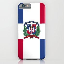Dominican Republic flag emblem iPhone Case