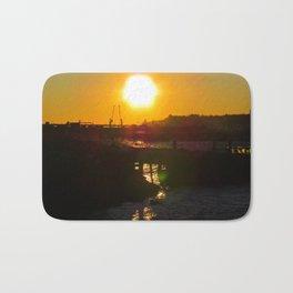 February Sunset at Bug Light (6) Bath Mat