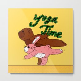 Yoga Time Metal Print