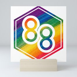 88Riddles Because Screw Racism Mini Art Print