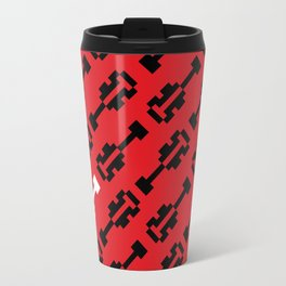 All of the 8Bit (Red) Travel Mug