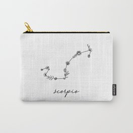 Scorpio Floral Zodiac Constellation Carry-All Pouch