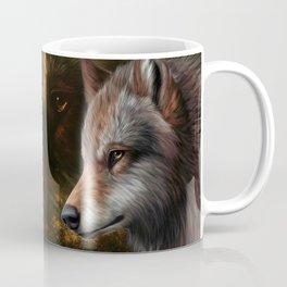 The head of a wolf painting.   Coffee Mug