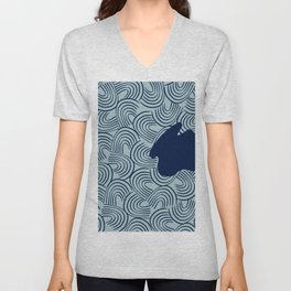 Ripples in the lake water #567 Unisex V-Neck