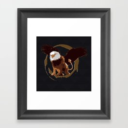 Griffin Shield Framed Art Print