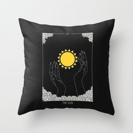 The Sun - Tarot Illustration Throw Pillow
