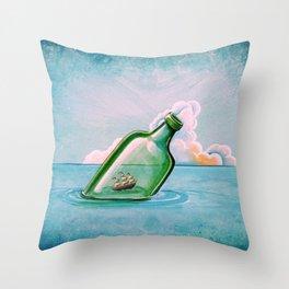 The Messenger - ship at sea Throw Pillow