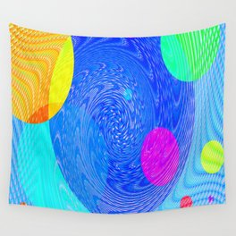 Re-Created Twisters No. 5 by Robert S. Lee Wall Tapestry