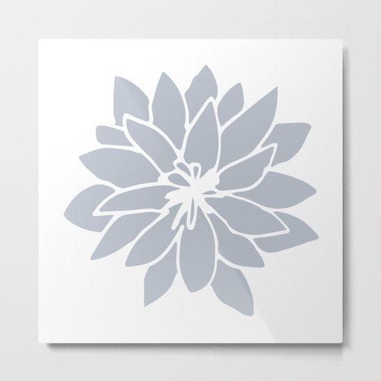 Flower Bluebell Blue on White Metal Print