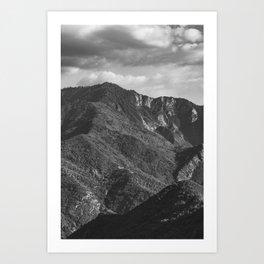 Black and White Mountain Top Art Print
