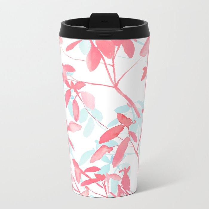 Premonition (Coral Mint) Metal Travel Mug