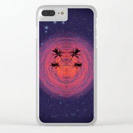 Cosmos Palms Quartet Clear iPhone Case