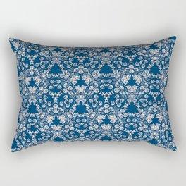 Blue Victorian Lace Rectangular Pillow