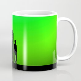 Tardis With The Eleventh Doctor Coffee Mug
