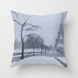 En hiver II Throw Pillow