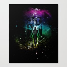 time traveller v2 Canvas Print
