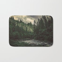 Pacific Northwest River - Nature Photography Bath Mat
