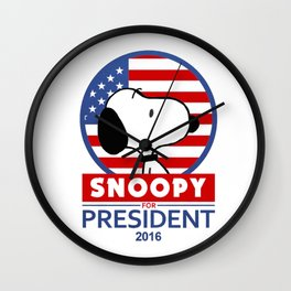 Snoopy For President Wall Clock