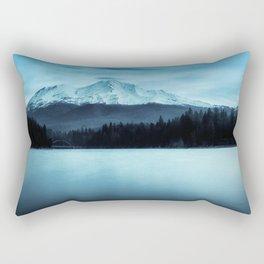 Mount Shasta Morning Rectangular Pillow