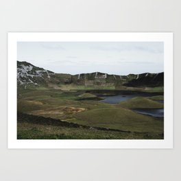Mouth of a collapsed volcano Art Print