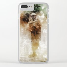 Gas Attack, World War Two Clear iPhone Case