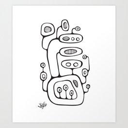 Orbs N Lines - Broadcast Art Print