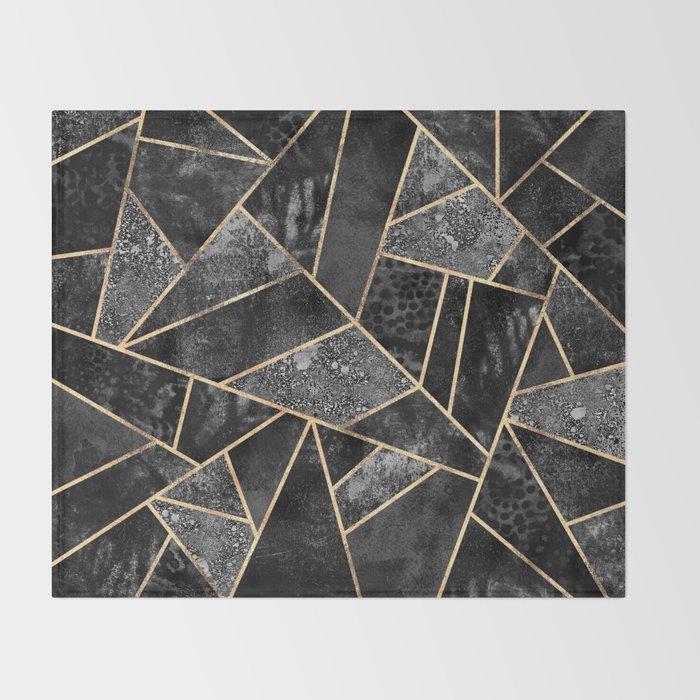 Black Stone 2 Throw Blanket