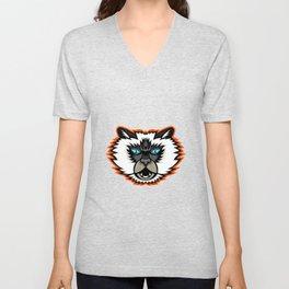 Himalayan Cat Mascot Unisex V-Neck