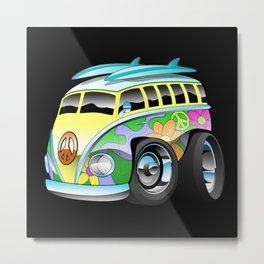 Surfer Van Metal Print
