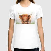 cow T-shirts featuring Cow by emegi
